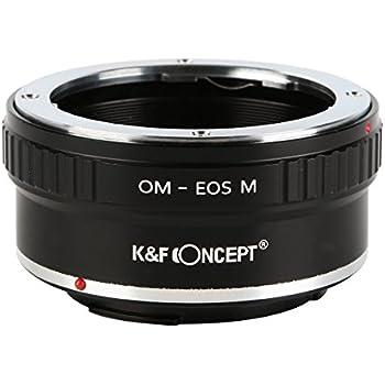 K&F Concept レンズマウントアダプター KF-OMEM (オリンパスOMマウントレンズ → キャノンEF-Mマウント変換)