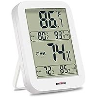 IREGRO デジタル温湿度計 室内 最高最低温湿度表示 マグネット付 置掛兼用 健康管理 ホワイト