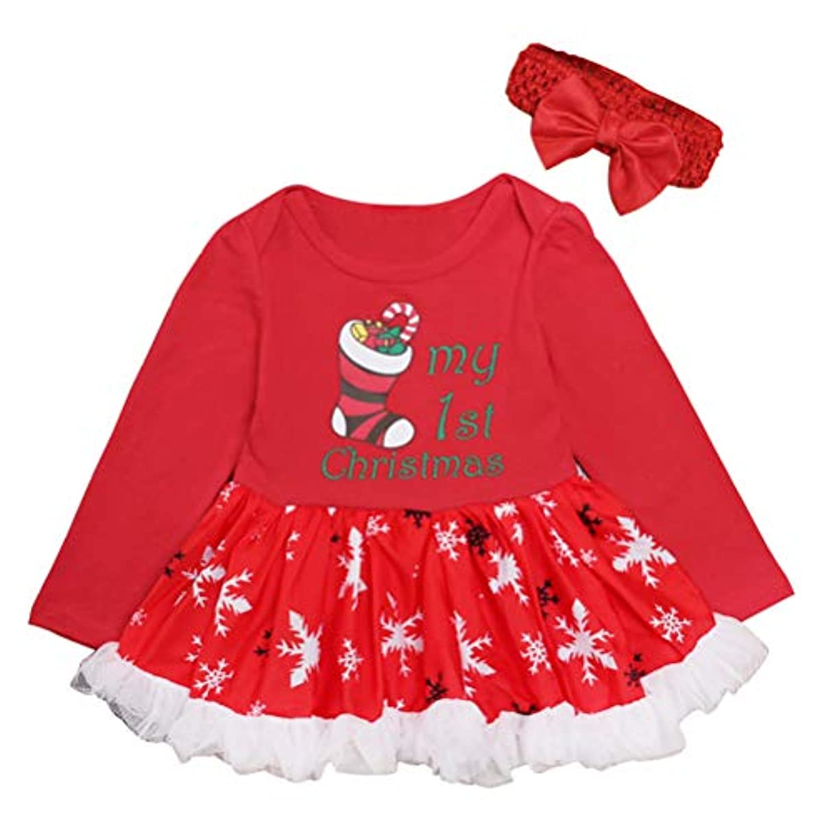 同盟免除する栄光のクリスマス パーティー 服装 コスチューム ツツ ロンパース ジャンプスーツ - 新生児 女の子 ロングスリーブ ロンパース ために 赤ちゃん ドレス Zhhlinyuan