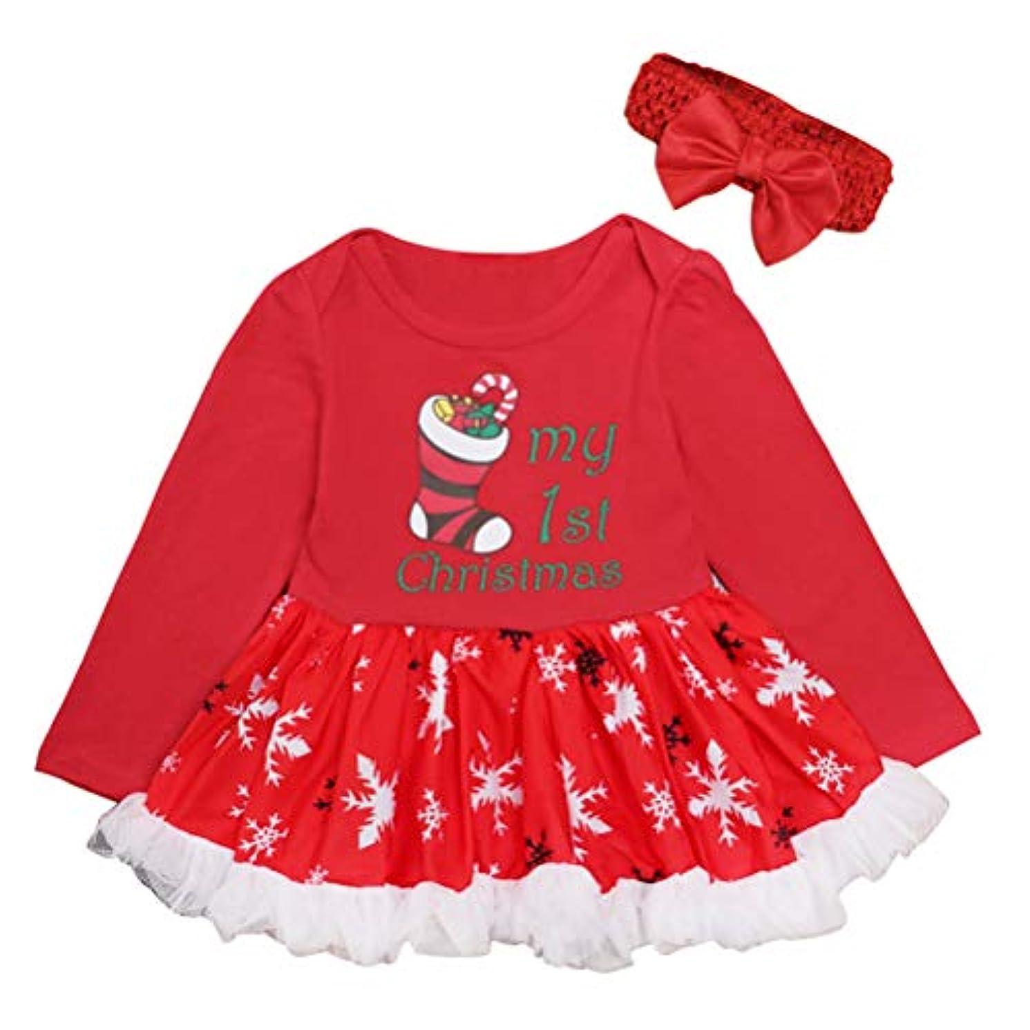 クリスマス パーティー 服装 コスチューム ツツ ロンパース ジャンプスーツ - 新生児 女の子 ロングスリーブ ロンパース ために 赤ちゃん ドレス Zhhlinyuan