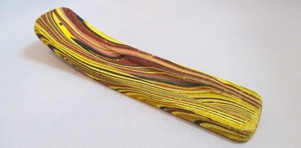 博覧会彫刻家半導体カラーお香立て (黄)