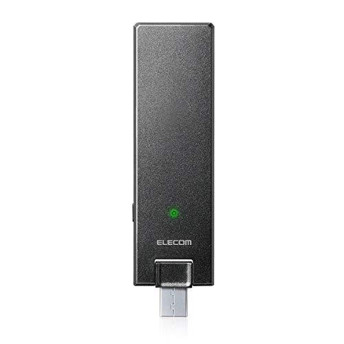 『エレコム WiFi 無線LAN 中継器 11ac/n/a/g/b ac1200 867+300Mbps ブラック 小型モデル デュアルバンド WTC-1167US-B』のトップ画像