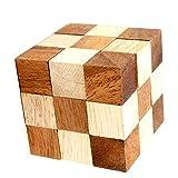 ルービックキューブのおもちゃ教育面白いスネーク減圧ウッディー子供組立ビルディングブロック 8 * 8 * 8Cm