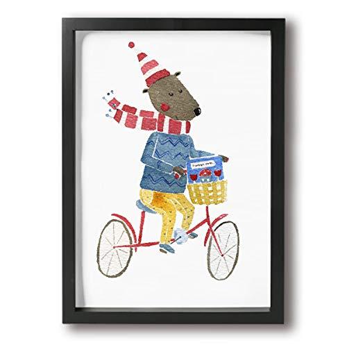 Poshanama ラット 自転車 かわいい 漫画 フォトフ...
