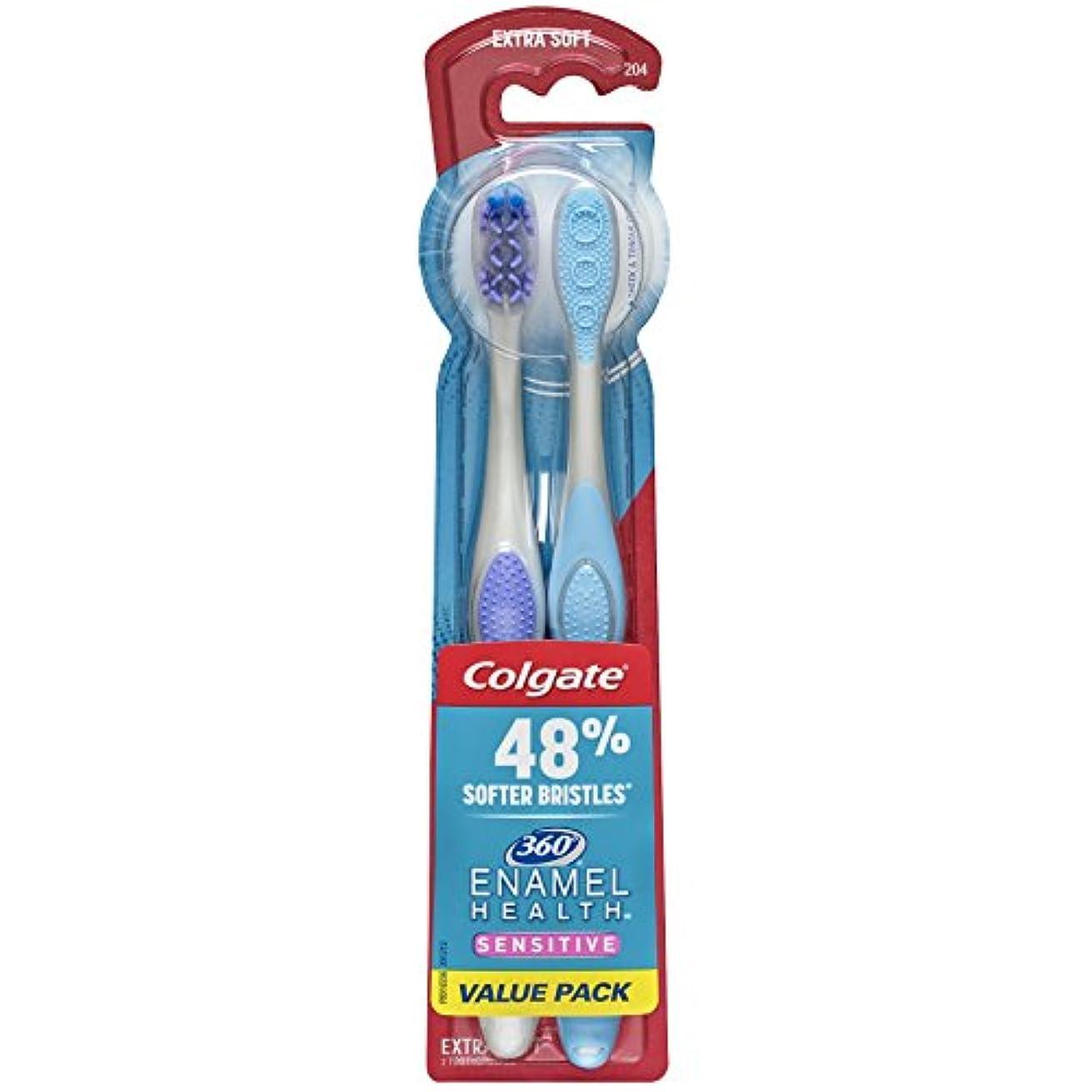 嘆く夏白内障Colgate エナメル健康に敏感な歯ブラシ、エクストラソフト、2カラット