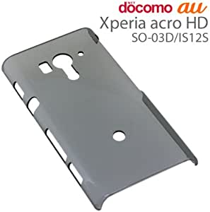 ラスタバナナ Xperia acro HD(SO-03D/IS12S)用 ハードケース クリアブラック C822ACROHD