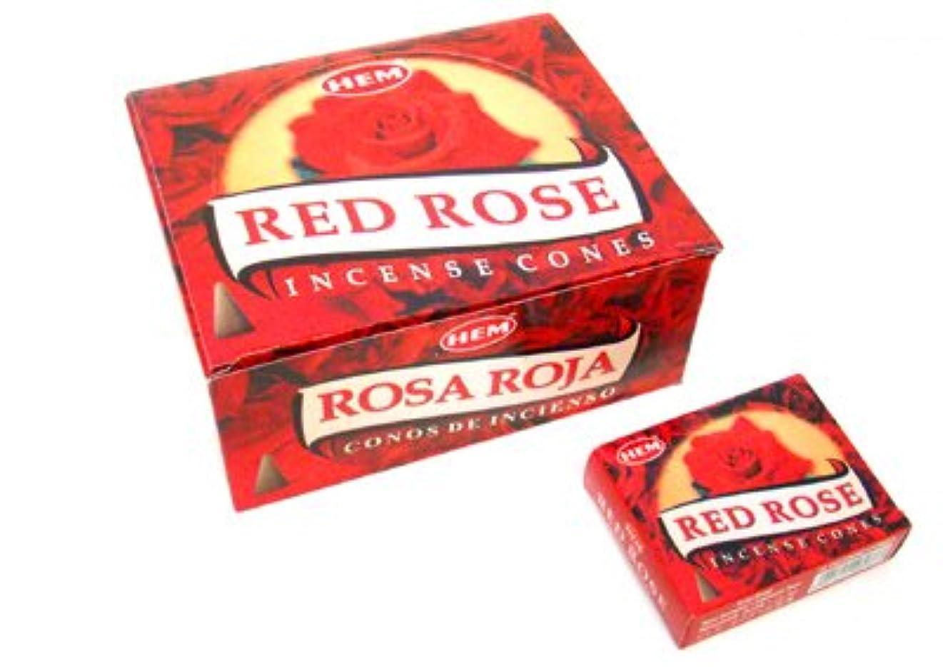 美徳壮大な溶融HEM(ヘム) レッドローズ香 コーンタイプ REDROSE CORN 12箱セット