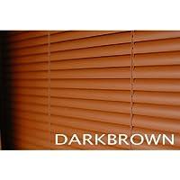 ブラインド ウッド調(木目) 横幅100×高さ180cm ダークブラウン