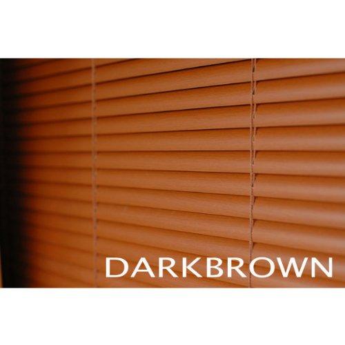 ブラインド ウッド調(木目) 横幅176×高さ138cm ダークブラウン