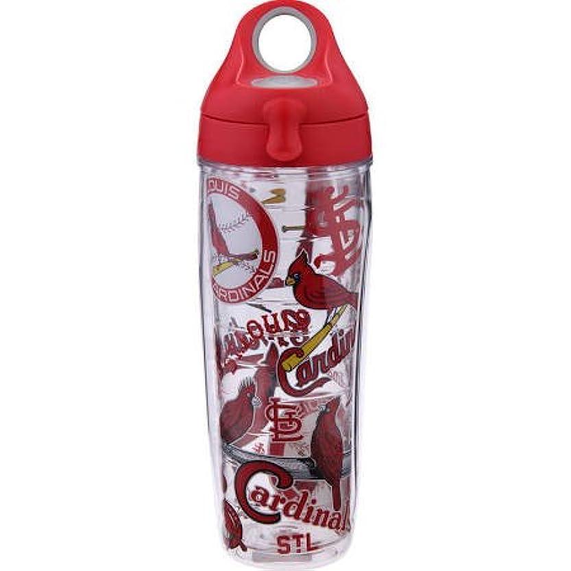 足首計算可能メイドTervis 888633543213 MLB St Louis Cardinals All Over 24 oz Water Bottle with Lid