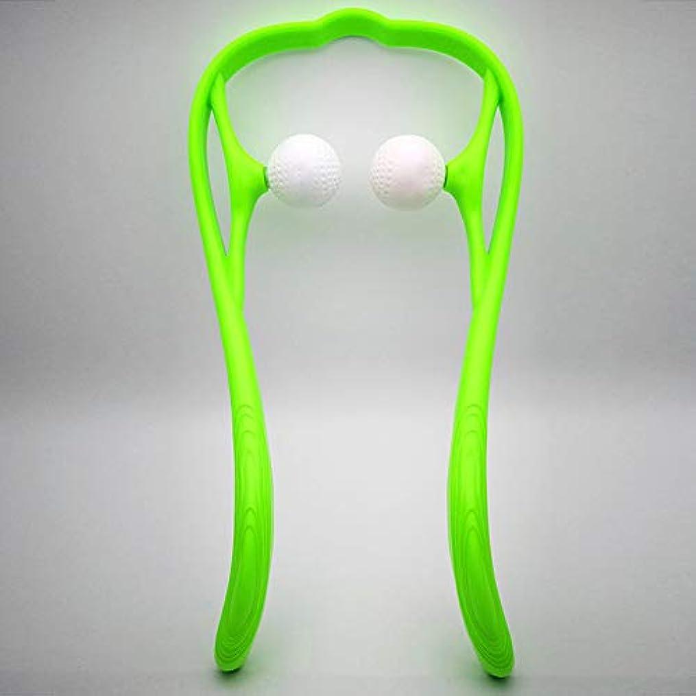 変化する丈夫カートDC ネックマッサージャー 簡易マッサージローラー 手動式 首マッサージ 肩 首 腰 足 凝り用 リンパマッサージ つぼ押 首 肩 血流促進