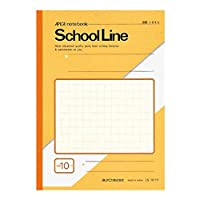 アピカ 学習帳 スクールライン LS10-1Y 10ミリ方眼 B5 黄