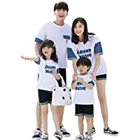 (JUTAOPIN)親子ペアルック t シャツ ショートパンツ 上下セット おそろい 親子服 親子ペア tシャツ 半袖 夏 大きいサイズ S M L XL 2XL 3XL