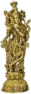 statuestudio真鍮Hindu God像クリシュナ