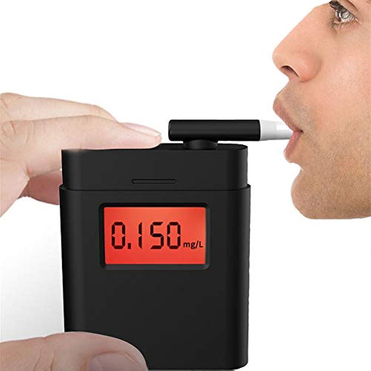 店員ヒギンズ石膏アルコールテスタープロフェッショナルグレード精度ポータブル呼気アルコールテスター液晶ディスプレイオーディオ警告バンド5ノズル