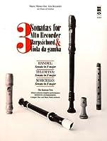 3 Sonatas for Alto Recorder, Harpsichord & Viola Da Gamba (Music Minus One Alto Recorder)