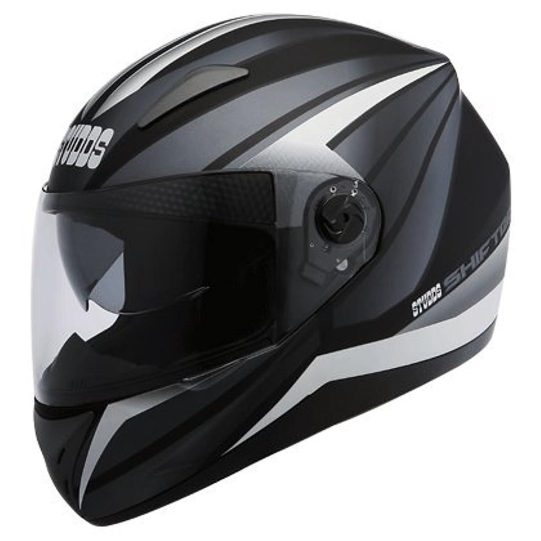 戸口設計地下室スタッズシフターD D2ポリカーボンブラックフルフェイスバイク用ヘルメット
