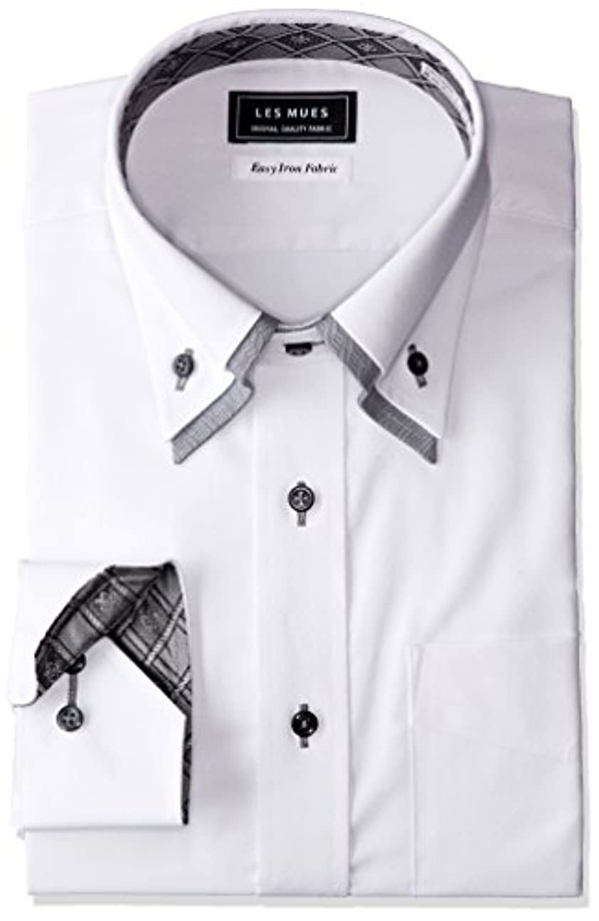 動かない告白無臭[アオキ] 二枚衿シャツ メンズ KIR73005-1