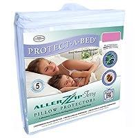 Aller Zip抗アレルギーとベッドバグプルーフ枕Encasement inホワイトサイズ: Queen