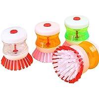 ポット/ディッシュブラシ- 4個Soap Dispensing洗剤ScrubberキッチンブラシDish Wash Palm Scrubber with Assorted Colors
