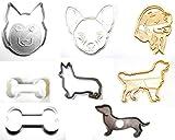 犬好きのセット8Corgi GoldenチワワダックスフンドハスキーDoggieボーン特別な機会クッキーカッターフォンダンベーキングツール3dプリントUSA pr1035
