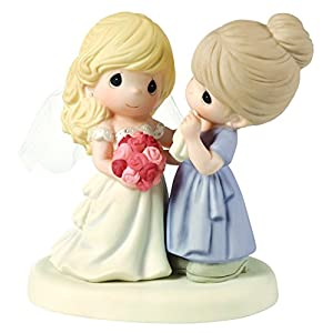 Precious Moments、ウェディングギフト、My Daughter, My Pride, a beautiful bride Bisque Porcelain Figurine、母と娘、# 153009 by Precious Moments