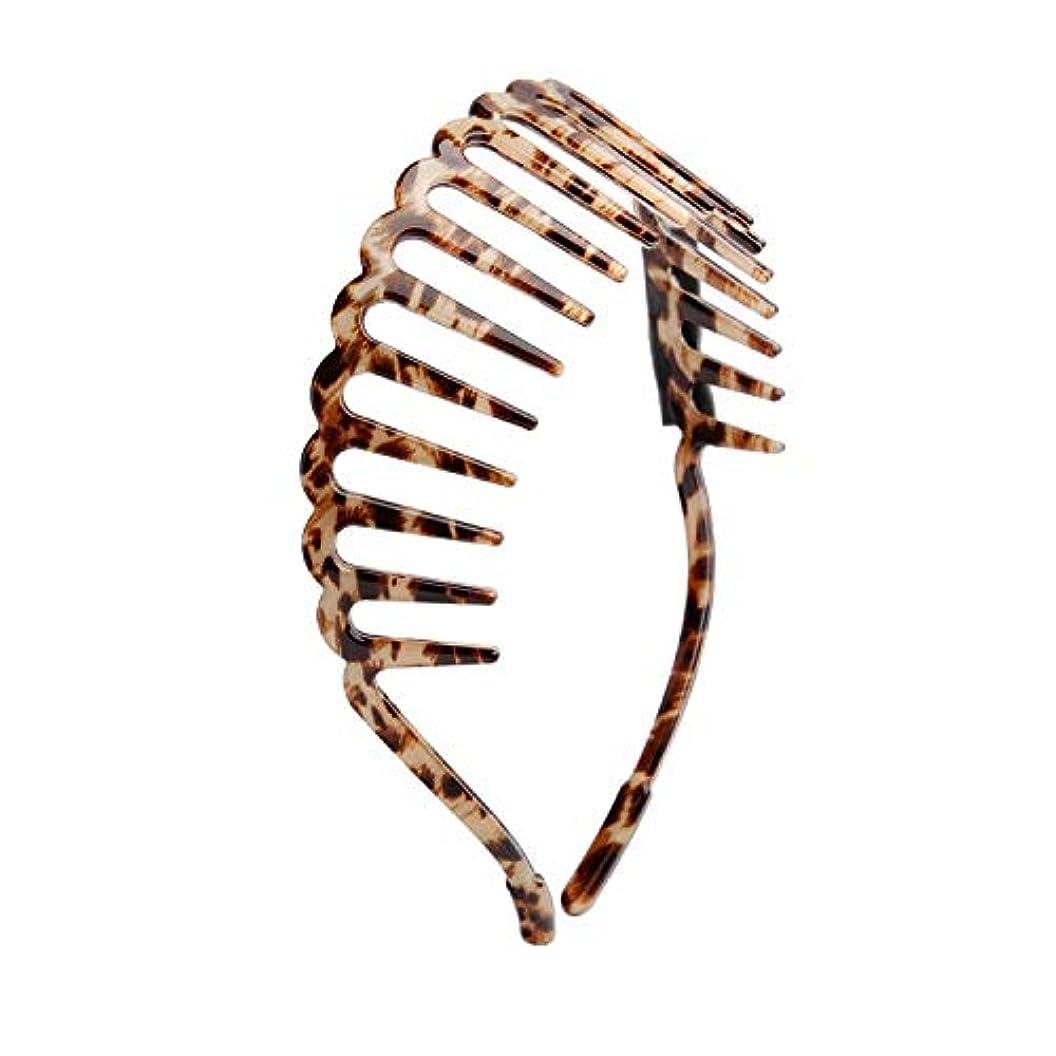 ひねくれた貝殻アンソロジーChimera ファッション コーム付きレオパード柄スリムカチューシャ ヘアバンド アセテートアセチ ヘアアクセサリー ヘアアレンジ まと