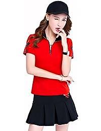 KEIMI レディース ゴルフウェア 上下 セットポロシャツ スカート  ゴルフ ウェア カジュアル 可愛い スポーツウェア おしゃれ