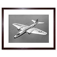 Military Air Plane Fighter Jet Canberra Bomber Framed Wall Art Print 軍隊飛行機ファイター爆撃機壁