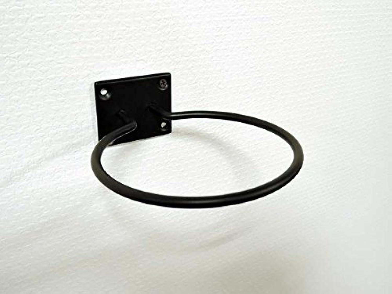 ドライヤーホルダー ブラック 黒 アイアン フック ヘアードライヤー シンプル 壁掛け 収納 アンティーク風 おしゃれ アジアン雑貨 北欧