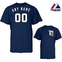 Detroit Tigers MLB公式ライセンス商品100 %コットンクルーネック(名&番号on Back )大人用3 x l