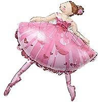 Kesoto フォイルバルーン バレエダンス 女の子 フォイル バルーン ベビーシャワー クリスマスパーティー デコレーション 2色選べ - ピンク