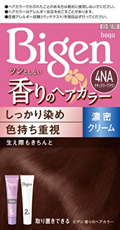 有効な名前でかりてホーユー ビゲン香りのヘアカラークリーム4NA (ナチュラリーブラウン) 1剤40g+2剤40g [医薬部外品]
