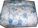 エブリ寝具ファクトリー 日本製 掛布団 シングルロング (ブルー系) おまかせ柄 フランス産 羊毛100% ウール100% 掛け布団