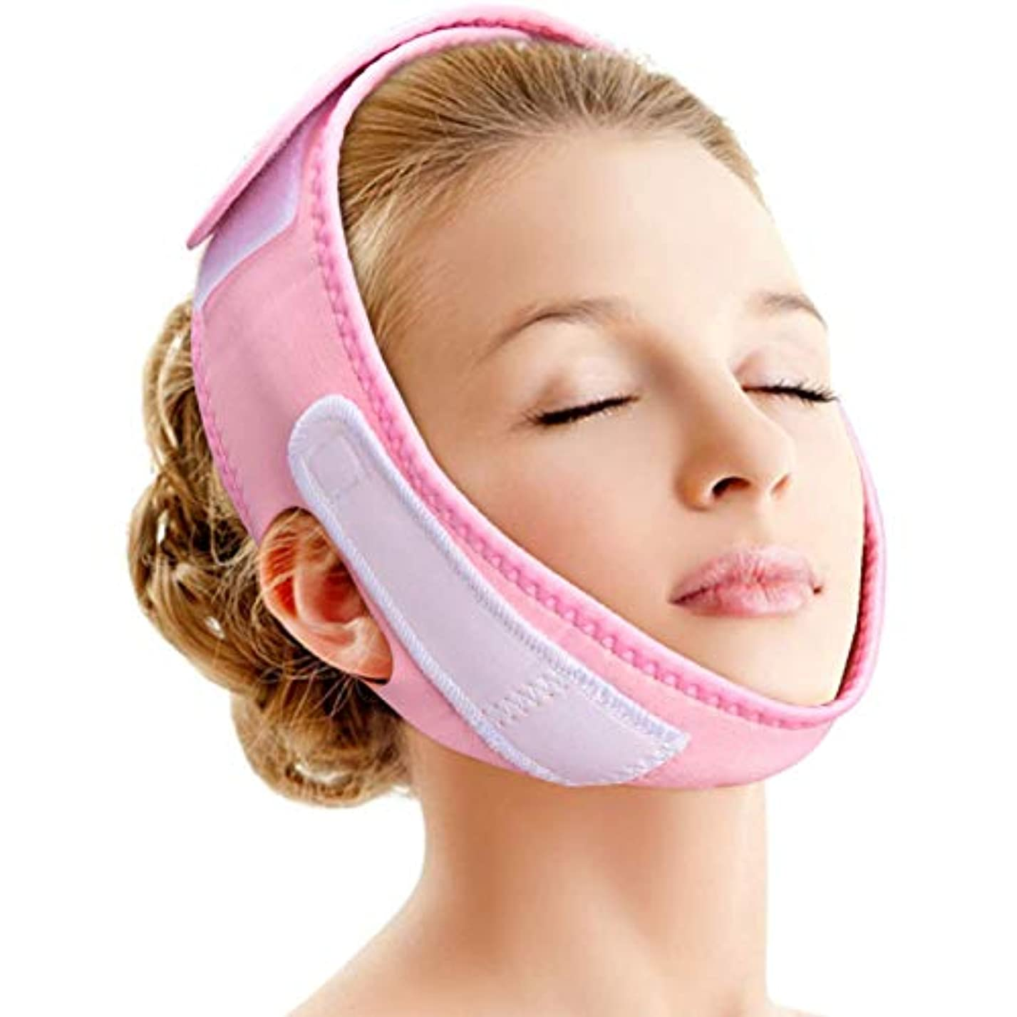 これまで怠熟読フェイシャルリフティングスリミングベルト - ダブルラインケア、顔の減量、しわ防止のためのVラインチンチークバンド-フェイスリフティング包帯