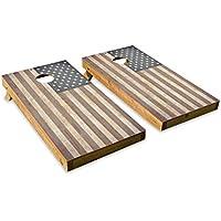 木製Looking American Flag – Cornholeクルー – ACA Regulation Size Cornholeボードセット