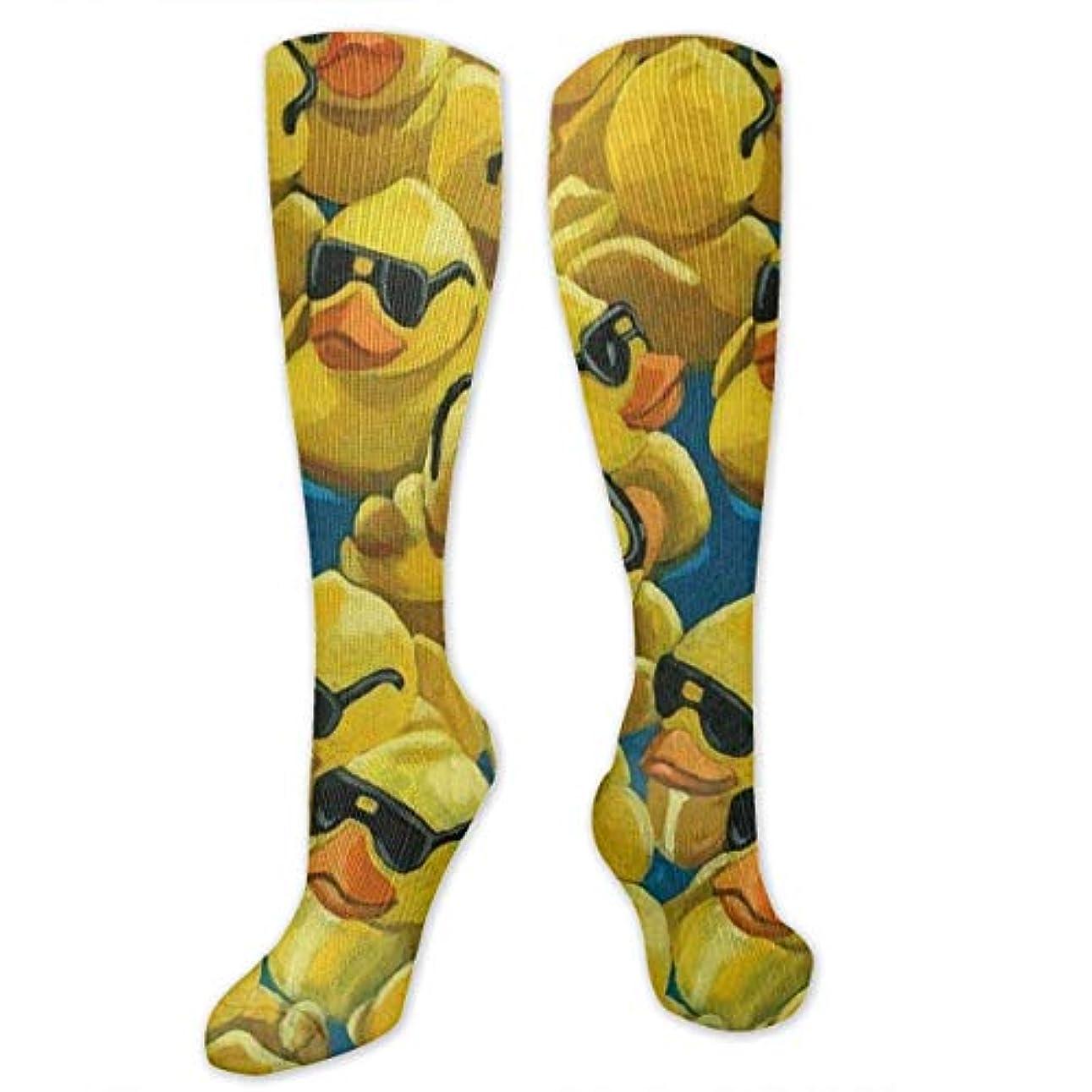 真っ逆さま学ぶ経歴靴下,ストッキング,野生のジョーカー,実際,秋の本質,冬必須,サマーウェア&RBXAA Rubber Duck Painting Unique Socks Women's Winter Cotton Long Tube...