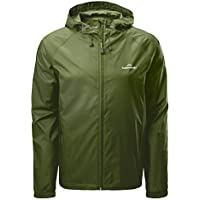 Kathmandu Pocket-it Men's Hooded Water Resistant Packaway Light Rain Jacket