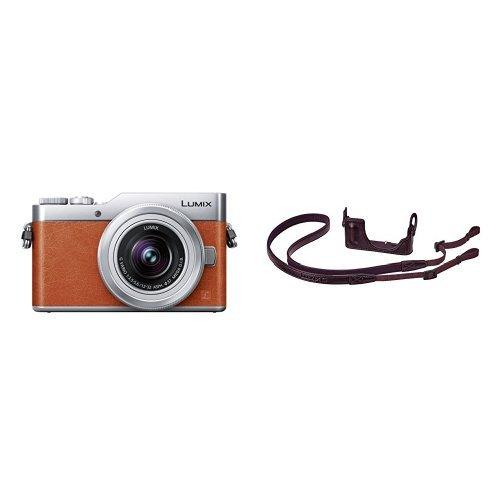 パナソニック ミラーレス一眼カメラ DC-GF9 標準ズームレンズ/単焦点レンズ付属 オレンジ DC-GF9W-D + ボディケースストラップキット DMW-BCSK4-T セット