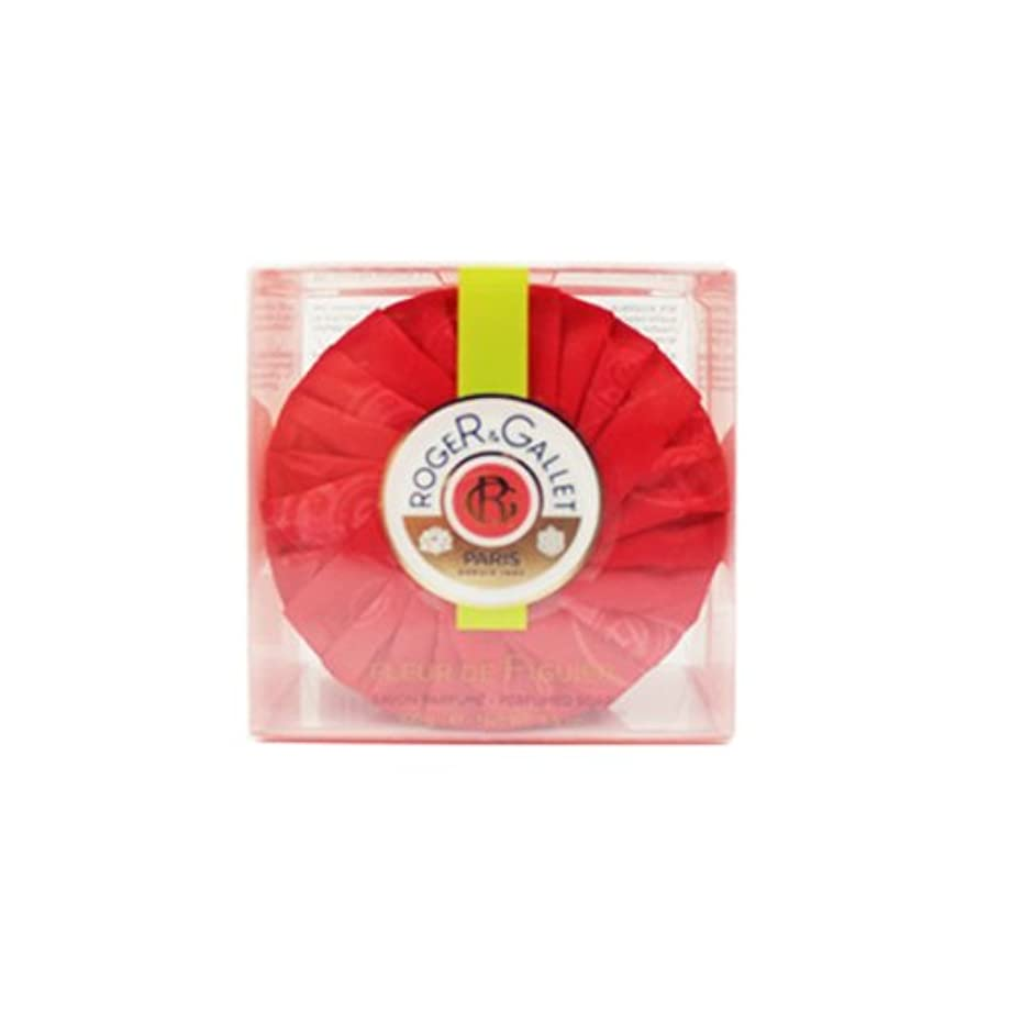 舌バングラデシュ郊外ロジェガレ フィグパフューム ソープ (香水石鹸) 100g ROGER & GALLET Fleur de Figuier soap [並行輸入品]