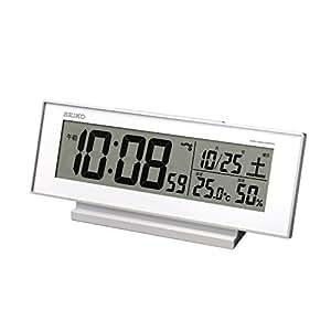 SEIKO CLOCK(セイコークロック) 「夜見える」電波デジタル目覚まし時計(白) SQ762W