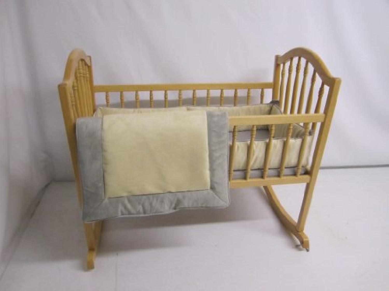 Baby Doll Bedding Zuma Cradle Bedding Set, Grey/Beige by BabyDoll Bedding