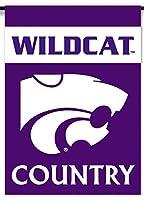 NCAA Kansas State Wildcats両面Country Gardenフラグ、1サイズ、チームカラー