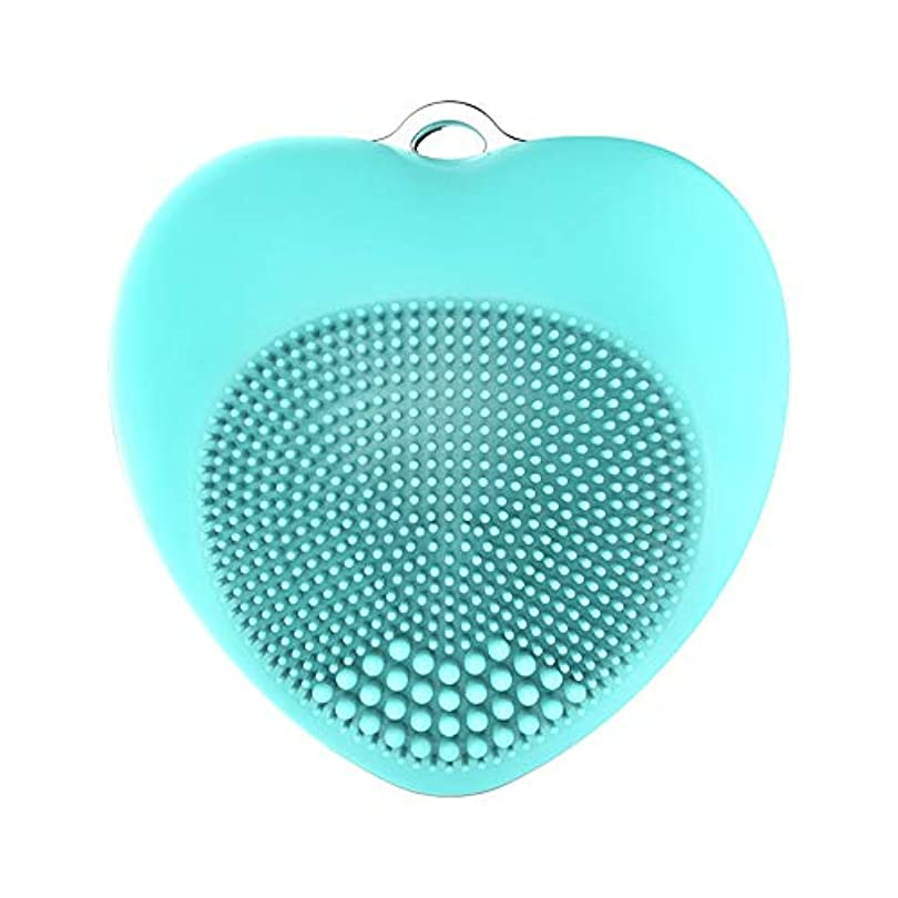 文芸飼いならすホステルLYX 新シリコーンクレンジング器、電気美容機器、毛穴クレンジングブラックヘッドウォッシュブラシ、超音波洗顔マッサージツール (Color : 青)