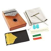 親指ピアノ 子供アダルト初心者の専門家のための17音キーカリンバポータブル親指ピアノ お子様、初心者、上級者、専門家に適用 (Color : Wood, Size : ONE SIZE)