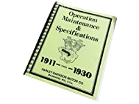 ハーレー 純正 サービス 整備 マニュアル 1911-1930年 HD オフィシャル メンテナンス マニュアル ビンテージ車両 Operation Maintenance & Specifications