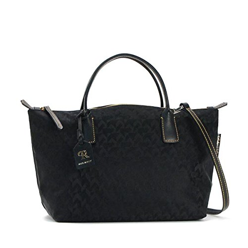 SMALL DUFFLE WITH SHOULDER STRAP トートバッグ BLACK ロベルタ ピエリ