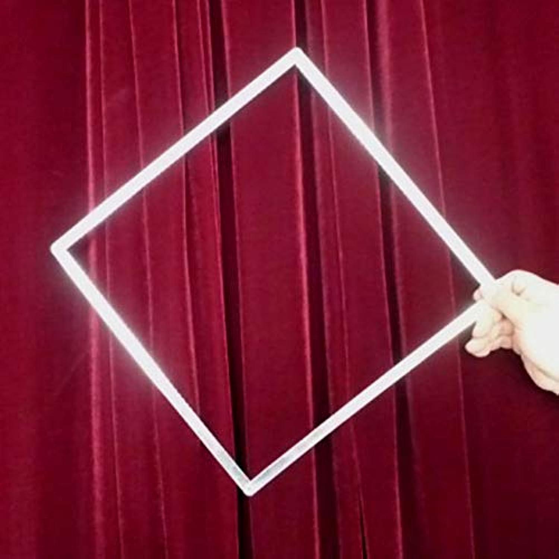【手品道具 まじっく】伸縮棒 ステンレスの円変侧 丸が四角形に変わる 道具マジックグッズ