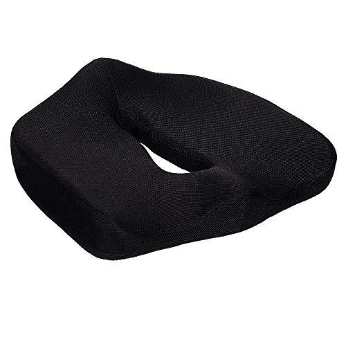 座布団クッション ヘルスケア 事務用 座布団 高反発 腰痛対策 椅子 オフィス用 男女兼用 ブラック 父の日プレゼント