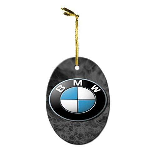 For BMW Car M3 M5 Z4M M Power Custom Personalization DIY Crafts Porcelain Christmas Holidays Oval Decorative Hanging Ornament by OBAY [並行輸入品]